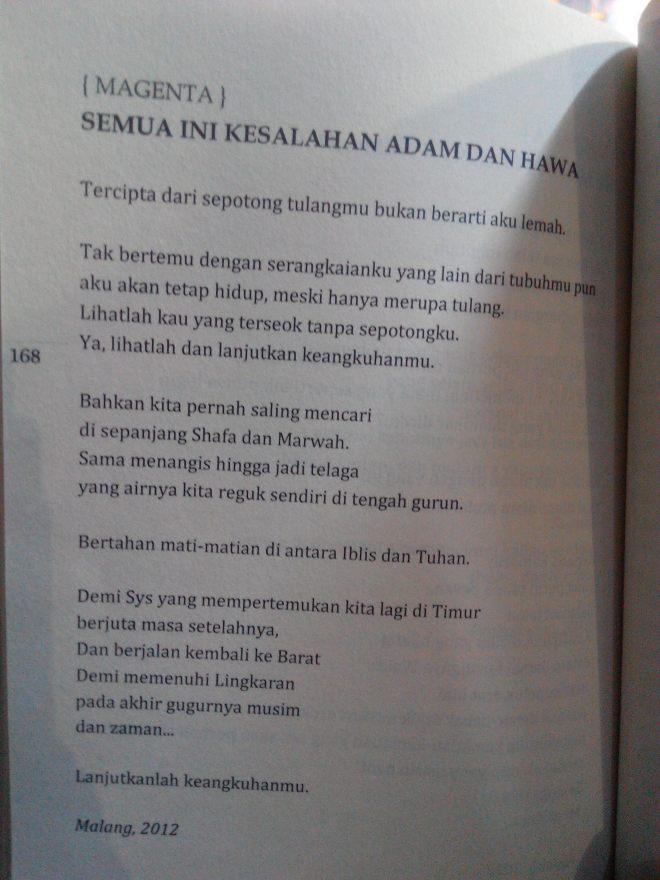 Semua Ini Kesalahan Adam dan Hawa